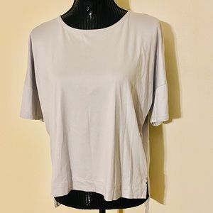 Madewell short sleeve low in the back blouse